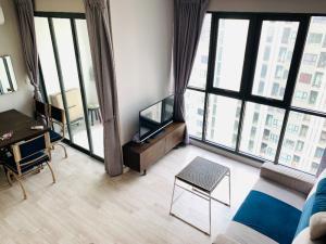 For RentCondoRama9, Petchburi, RCA : 🔥 Hot Deal - 2Bed Duplex 60 sqm. 🔥 High Floor Nice View Duplex room PN-00004234
