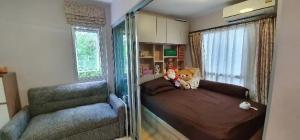 For SaleCondoChengwatana, Muangthong : Sale Plum condo Chaengwattana Station Phase 2 Building B with furniture (S2190)