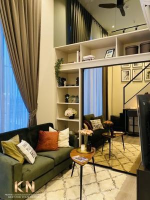 For RentCondoSapankwai,Jatujak : The reserve Phahon-Pradipat for rent, Duplex room, 1 bedroom, 1 bathroom, size 38 square meters, 14th floor, beautifully decorated.
