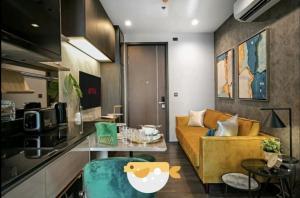 For RentCondoRama9, RCA, Petchaburi : 🔥 Urgent, beautiful room, Condo for rent, The Line Asoke-ratchada