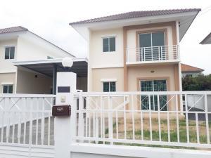 For RentHouseOnnut, Udomsuk : House for rent, Lalin Green Ville, On Nut, Suvarnabhumi, 2 floors, 60 sq.wa.