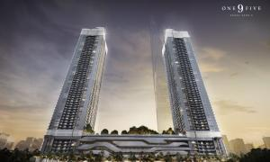 Sale DownCondoRama9, RCA, Petchaburi : Quick sale down payment One9Five Asoke rama9 1 bedroom 36 sqm, Building A, floor 40+, south