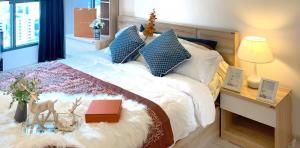 For RentCondoBangna, Lasalle, Bearing : SK03142 Ideo Mobi Sukhumvit Eastgate for rent, size 30.39 sq.m., floor 21** BTS Bangna**