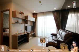 For RentCondoRama9, RCA, Petchaburi : JY-R00099-Condo for rent, Circle 1, Phetchaburi 36, 1 bedroom, 1 bathroom, 40 sq m, Building B, 40th floor, beautiful decoration.