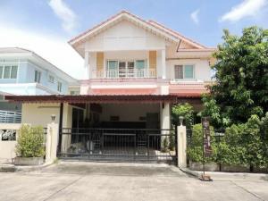 For RentHouseOnnut, Udomsuk : 2 storey detached house for rent, Perfect Place Village, Sukhumvit 77, Phase 3, near Suvarnabhumi Airport. Lat Krabang area