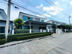 For RentHouseRamkhamhaeng Nida, Seri Thai : 2 storey detached house for rent, Perfect Place Village, Ramkhamhaeng 174, near Suvarnabhumi Airport.