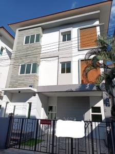 For SaleHouseRama5, Ratchapruek, Bangkruai : Quick sale, House of Taradee Rama 5 Ratchaphruek project, 3 bedrooms, near MRT Purple Line Bang Rak Yai.