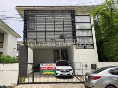 For SaleHousePattanakan, Srinakarin : House for sale, Senmura Srinakarin, Bangna, Japanese style, shady atmosphere, Zen style (Zen)
