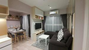 For RentCondoRama9, RCA, Petchaburi : For rent, Plum Condo Ramkhamhaeng Station, 2 bedrooms, cheap price, very beautiful room