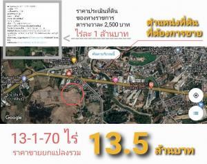 For SaleLandKalasin : 4 plots of land for sale in Kalasin, total 13-1-70 rai.