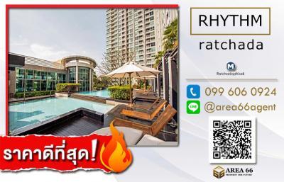 For SaleCondoRatchadapisek, Huaikwang, Suttisan : For Sale Rhythm Ratchada Nearby MRT Ratchadaphisek