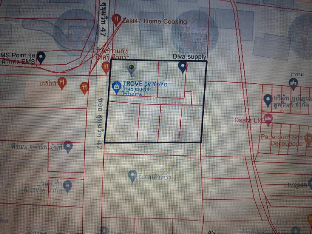 For SaleLandSukhumvit, Asoke, Thonglor : Land for sale Sukhumvit 47 1-2-51 Rai 846,500,000 Am: 0656199198.