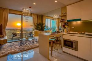 For SaleCondoPattaya, Bangsaen, Chonburi : Condo for sale in Pattaya near Jomtien Beach Beautiful room, fully furnished