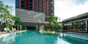ขายคอนโดพระราม 9 เพชรบุรีตัดใหม่ : ขายพร้อมผู้เช่า_The Base Garden Rama9  ขนาด 26.75 ชั้น12 ตกแต่งครบพร้อมอยู่