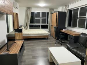 ขายคอนโดบางนา แบริ่ง : ขายห้องมุม ชั้นเจ็ด วิวสวน ลมเย็น ตึกB Dcondo Campus Resort Bangna