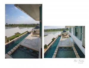 ขายบ้านรังสิต ธรรมศาสตร์ ปทุม : Selling : Super Luxury House close to the River  With Private Pool & Jaguzzi 5 Rai in Rungsit  , 4 Bed 6 Bath , 1200 sqm   ขายคฤหาสน์รังสิตตกแต่งสไตร์ไทยร่สมสมัย ริมน้ำพื้นที่ 5 ไร่ 4 ห้องนอน 6 ห้องน้ำ   📌15 Mins to Fut