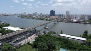 For SaleCondoBang Sue, Wong Sawang : Luxury condo for sale on the Chao Phraya River 333 riverside (333 Riverside) MRT Bang Pho 1 bed 46 sq.m., price 7,739,000 baht, high floor, full river view.