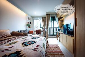For RentCondoLadprao, Central Ladprao : Rent-Life Ladprao /Studio/ 29.5 sq m. / Floor 12A / Next to BTS Lat Phrao / Rent 15,000