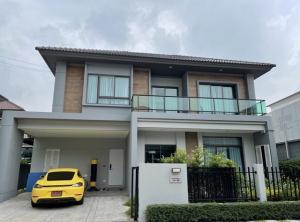 For SaleHousePattanakan, Srinakarin : HS373 2 storey detached house for sale, area 53.7 sq m. Village Avenue Rama 9, convenient transportation near the expressway.