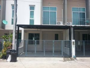 For RentTownhouseVipawadee, Don Mueang, Lak Si : HR791 Townhome for rent, 2 floors, Happy veille village, Don Mueang, convenient transportation near the expressway.