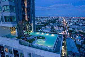 ขายคอนโดสำโรง สมุทรปราการ : ขาย 1 ห้องนอน 2.39 Condo KnightsbridgeSukhumvit-Theparak บิ้วอินครบ  ทำเรื่องสินเชื่อให้