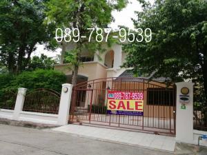 For SaleHouseRattanathibet, Sanambinna : Detached house for sale, Laddarom Rattanathibet ,  corner house, near MRT Sai Ma station,  near Phranangklao hospital