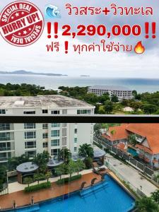 For SaleCondoPattaya, Bangsaen, Chonburi : Reduced to millions. Condo, large room, sea view. and pool view And free of charge The peak tower The Peak Tower Pratumnak Pattaya