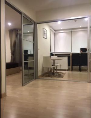 For RentCondoRatchadapisek, Huaikwang, Suttisan : Condo for rent Rhythm Ratchada, next to MRT Ratchada, corner room 46 sqm. *** No parking