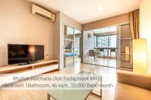 For RentCondoRatchadapisek, Huaikwang, Suttisan : Condo for rent Rhythm Ratchada, next to MRT Ratchada (Exit 4)