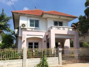 For RentHouseBangbuathong, Sainoi : Sell or rent 2 storey detached house, good condition, move in immediately. Chuan Chom Village, Siriwan, Nonthaburi