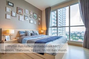 For RentCondoRatchadapisek, Huaikwang, Suttisan : Condo for rent Rhythm Ratchada, next to MRT Ratchada.