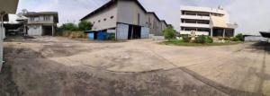 For RentFactoryNakhon Pathom, Phutthamonthon, Salaya : BS740 Land for rent with buildings, area 22 rai, purple area. Adjacent to Economic Road 1, Samut Sakhon