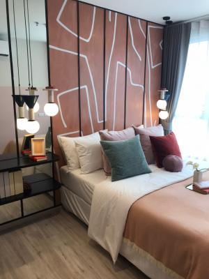 For SaleCondoRatchadapisek, Huaikwang, Suttisan : Hot!! New condo Huai Khwang, next to mrt Huai Khwang 50 meters, 1 bedroom 34 sqm + fully furnished, garden view, only 3.90 mb, cheapest in Ratchada Interested in seeing the project 0626562896 Ray