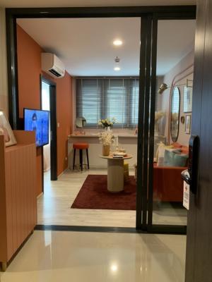 For SaleCondoRatchadapisek, Huaikwang, Suttisan : Luxury condo for sale, next to MRT Huailwang, Huai Khwang 75 m. MRT Huai Khwang 35 sq.m., price 3,990,000 baht (last room)
