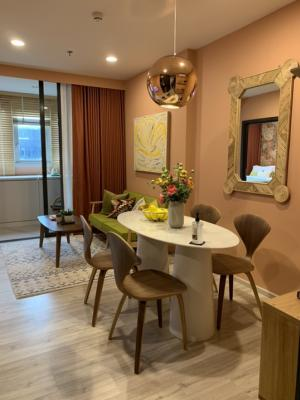 For SaleCondoRatchadapisek, Huaikwang, Suttisan : Luxury condo for sale, next to MRT Huailwang, Huai Khwang 75 m. MRT Huai Khwang 1 bed 35 sq.m., price 3,990,000 baht (last room)