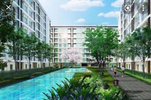 For RentCondoYothinpattana,CDC : Condo for rent, one bedroom, along the Ekamai Expressway, Ramintra, 8,000 baht.