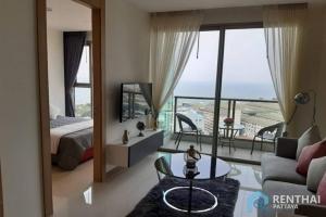 For SaleCondoPattaya, Bangsaen, Chonburi : Luxury condo, Jomtien, 1 bedroom, ready to move in, 3.59 million baht, sea view