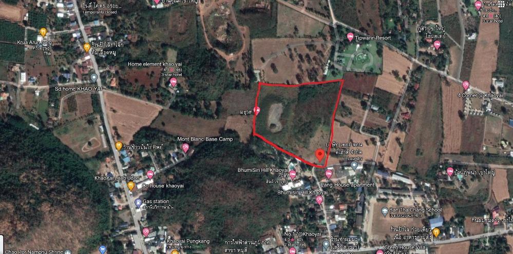 For RentLandKorat KhaoYai Pak Chong : Land for rent in Khao Yai, only 4,500 baht per rai !!