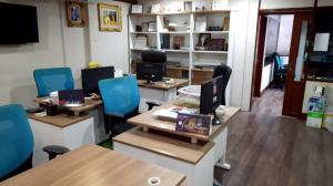 For RentOfficeSilom, Saladaeng, Bangrak : Office for rent, Charn Issara Building 2, G floor, has 2 floors for rent, the total area of 2 floors is 164.8 sq m.