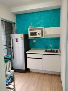 For RentCondoBangbuathong, Sainoi : W0139# Condo for rent, Plum Condo, Bang Yai, Khlong Thanon, size 23 square meters, 1 bedroom, 1st floor, Building F, 4th floor, pool view, rental price 5,000 baht / month