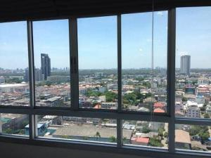 For RentCondoRama3 (Riverside),Satupadit : Condo for rent, corner room, 22nd floor, good view, private corner