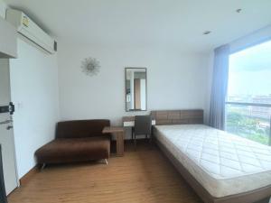 For RentCondoOnnut, Udomsuk : For rent Ideo Mobi Sukhumvit, studio room 21 sqm, 7th floor, pool view 9,500 baht.