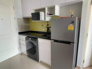 For RentCondoBang kae, Phetkasem : For rent Bangkok Horizon Ratchada - Thapra (very beautiful big room + washing machine) ⭐️ with special promotion ⭐️ (026-05) 🟢 Line : @findmyroom