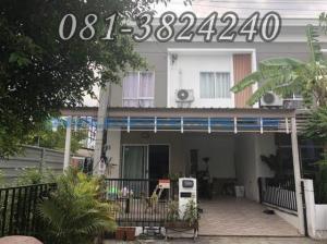 For SaleTownhouseRangsit, Patumtani : Townhouse, behind the corner, 2 floors, Pruksa University 60/1, area 27.4 sq.wa., 3 bedrooms, 2 bathrooms.
