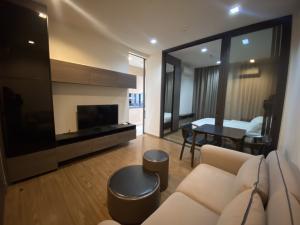 For RentCondoOnnut, Udomsuk : For rent, The Line Sukhumvit 71, 12th floor, unblocked view, size 30.75 sq.m.