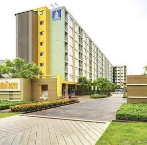 For RentCondoLadkrabang, Suwannaphum Airport : to Lumpini Condo Romklao-Suvarnabhumi, Building A1, 7th floor, room 727, 1 bedroom, 1 bathroom, rental fee 5,000 per month, room insurance 2 months, ready to move in, 15,000 baht, 1 year contract