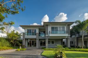 For SaleHousePattanakan, Srinakarin : Detached house The palm Krungthep Kreetha - Ring Road, new home, 1st hand project, 79.5 square meters (New Krungthep Kreetha)