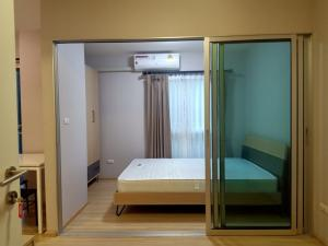 For RentCondoChengwatana, Muangthong : Empty room for rent, fully furnished, at Plum Condo Chaengwattana Station Phase 2, price only 6500.-/m.