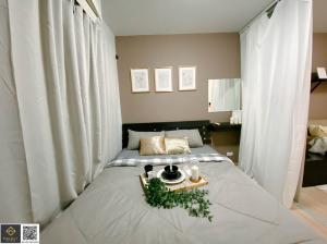 For RentCondoLadprao101, The Mall Bang Kapi : For rent, Plum Condo Ladprao 101, beautiful room, with washing machine MC-246