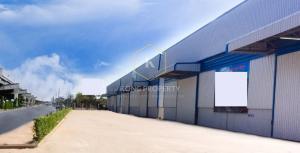For RentWarehouseSamrong, Samut Prakan : Warehouse for rent, warehouse 2,218 sq.m., next to the main road, Bang Phli District, Samut Prakan